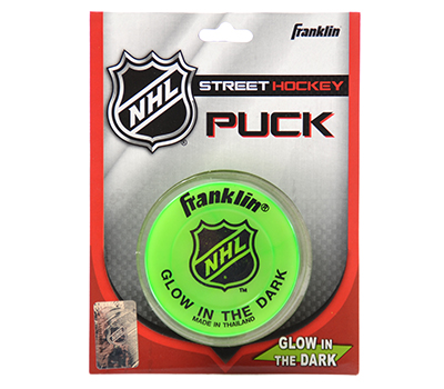 Picture of Franklin NHL Glow in the Dark Street Hockey Puck - Blister